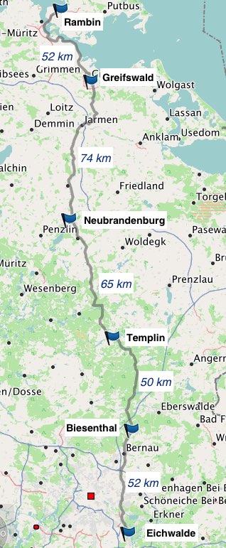 Übersicht Eichwalde-Rambin